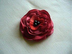 Odznaky/Brošne - saténový kvet - 2648033