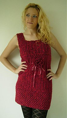 Šaty - Háčkované šaty-tunika - 2648367