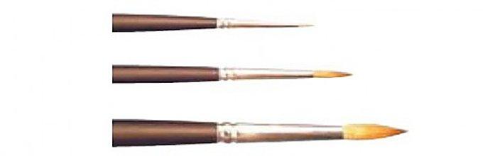 Pomôcky/Nástroje - Štetec na miniatúry (P518 - Red Sable Kolinsky) No 10/0, 5/0, 4/0, 3/0, 2/0, 1, 0 - 264988