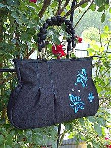 Kabelky - Maľovaná -riflová taška - 2650722