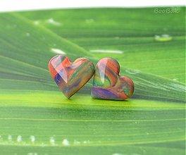 Náušnice - Tlmené farebné - 2652701