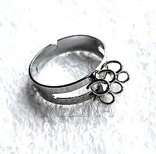 Komponenty - Základ na prsteň-platina-1ks - 2652879