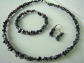 Sady šperkov - Hematitová sada - 2658934