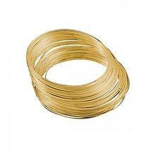 Suroviny - DRO2875, Pamäťový drôt priemer 5.5cm ZLATO /5Ø - 2662486