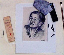 Obrazy - KRESBA a maľba portrétov podľa fotografie - 2666334