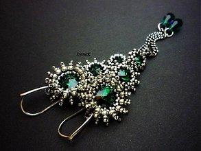 Náušnice - Drop of Emerald - 2670400