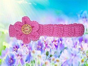 Detské doplnky - Ružová čelenka - 2671516