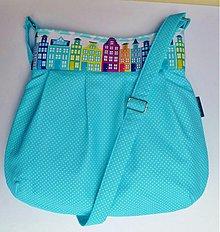 Veľké tašky - kabelka Tyrkysová variace - 2671801