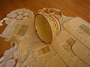 Iné oblečenie - Prekrásna nostalgická súprava: zástera a 4x prestieranie - 2675109