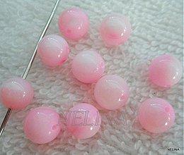 Korálky - Perleť.gulička 7mm-1ks (ružová) - 2676497