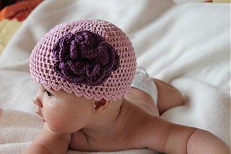 Detské čiapky - som malá, romantická dušička - 2679141