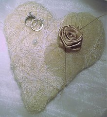 Prstene - srdiečko pod obrúčky - 2680032