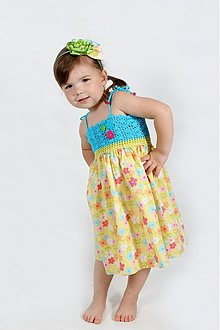 Detské oblečenie - Farebné kvetinové šaty - 2680682