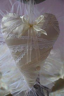 Dekorácie - Srdce krajka svadobné SKLADOM - 2681248