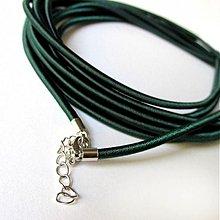 Komponenty - Hodvábny náhrdelník 3mm (Dark Green) - 2683768