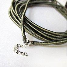 Komponenty - Hodvábny náhrdelník 3mm (Dark Grey) - 2683776