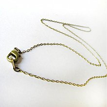 Komponenty - Retiazka bižutérna (Očká 45cm / mosadzná farba) - 2683806