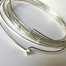 Komponenty - Náhrdelník obruč / hrubá - 2683849