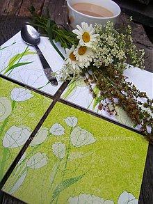 Pomôcky - Podšálky - podložky pod pohár - biely tulipán - 2684194