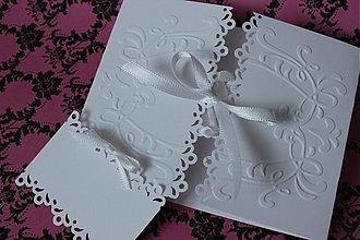 Papiernictvo - Svadobné oznámenie - jemné biele I. - 2686626