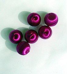 Korálky - textilná korálka, 2,2 cm,1 ks - 2688241
