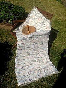 Úžitkový textil - Koberec pastelovo zeleno-tyrkysový 170x74cm - 2696108