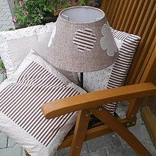 Úžitkový textil - Vankúšiky a lampa robené na objednávku pre Sašku... - 2696860