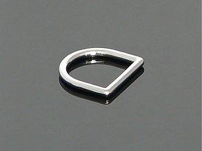 Galantéria - polokrúžok - pochromovaný 20 x 23 mm - 2697698