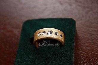 Prstene - Drevený prsteň Swarovski Crystal 7  Javor - 2701405 7b529cc88a5