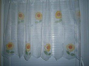 Úžitkový textil - Kuchynská záclona slnečnica - 2701843