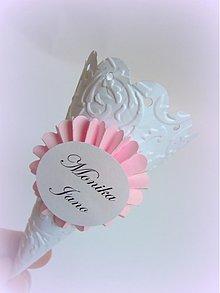 Darčeky pre svadobčanov - Svadobný kornútok pre Moniku a Janka... - 2702541