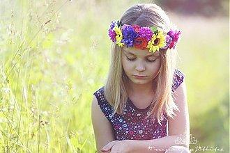 Ozdoby do vlasov - květinový věneček - 2702553