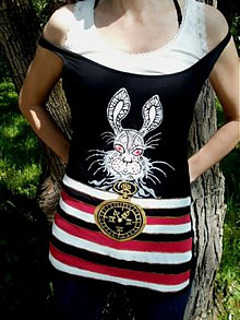 Tričká - Alicin biely králik - 2703503