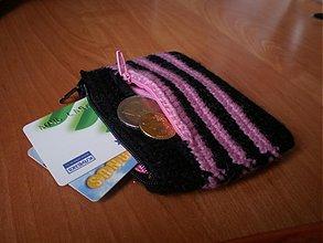 Peňaženky - Peňaženka - čierno-ružová - 2703976