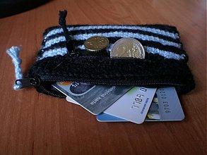 Peňaženky - Peňaženka - čierno-belasá - 2704844