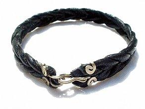 Šperky - čierny pásavec - náramok na zapínanie - 2707688