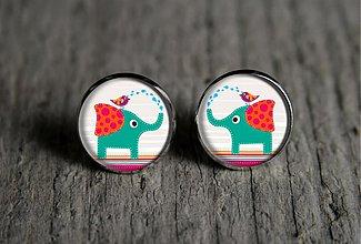 Náušnice - slonica - 2713962
