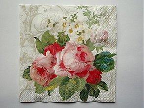Papier - 72 ruže na bielom - 2717780