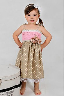 Detské oblečenie - bodkované šatičky - 2718123