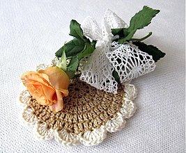 Úžitkový textil - podšálkovník na prírodno - 2718197