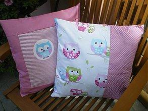 Úžitkový textil - Sovičkové vankúšiky 40x40 - 2718655