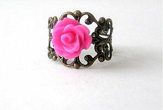 Prstene - vintage cyklamen - 2719047