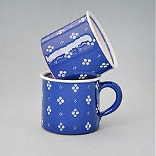 Nádoby - Kafáč 8 cm 4puntík - modrý, cca 0,3 l - 2721667