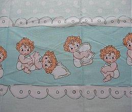 Textil - Bábätká na modrom - 2721727