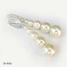 Náušnice - Ivory perličky - 2723275