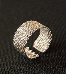 Prstene - Filigránová obrúčka, strieborná, 8-radová - 272406