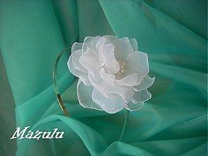 Ozdoby do vlasov - biela čelenka aj ako svadobná - 2726246