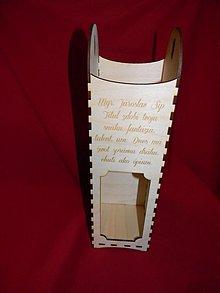 Krabičky - Krabička na víno s venovaním - 2727367
