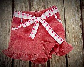 Detské oblečenie - Nohavice a či sukňa..?? (v bordovej) - 2728348