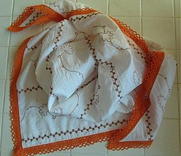 Šatky - biela, hnedá a aj oranžová... - 2729146